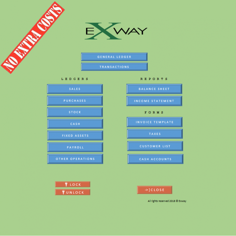 Exway v1.2 - Bookkeeping / Accounting Tool for Small Business (in Excel) - only $9.99
